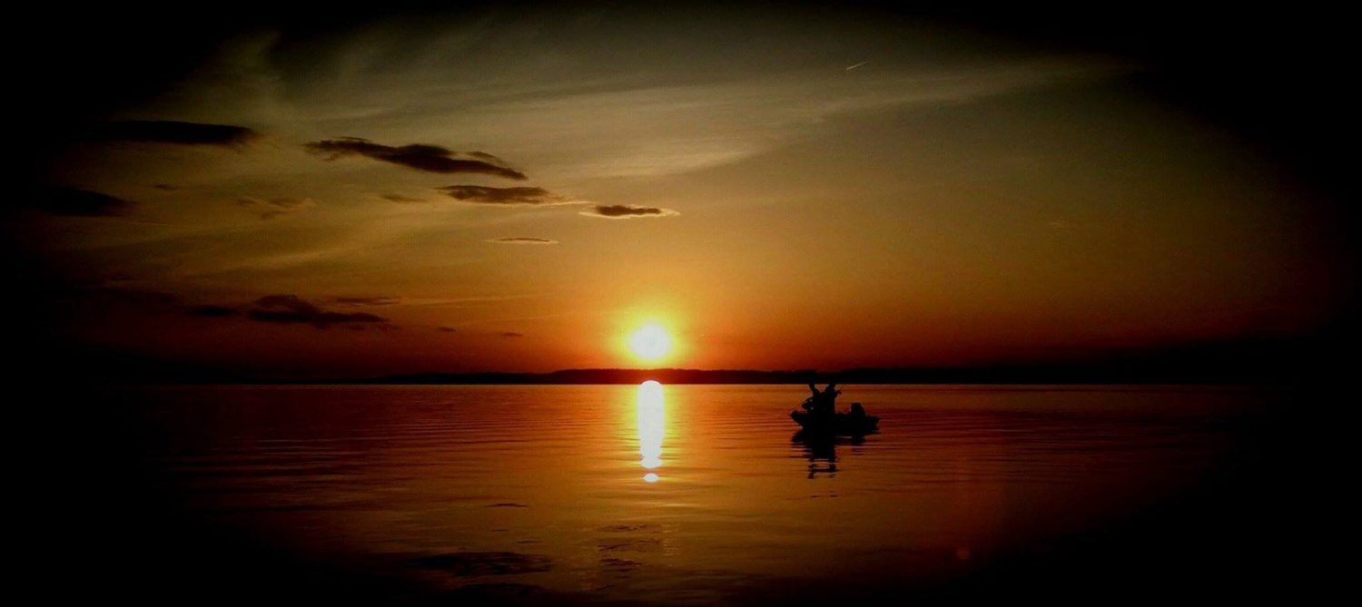 Sunset fishing on Lake Miltona in Miltona, Minnesota