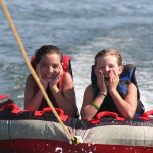 Tubing on the lake