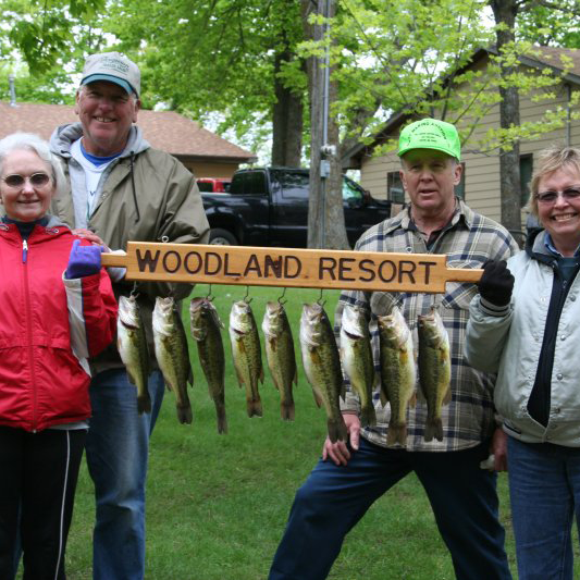 Daily bass catch at Woodland Resort