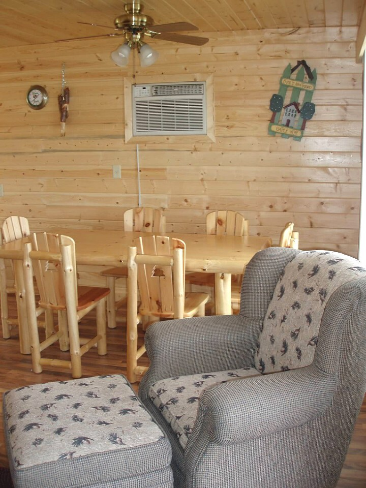 Cabin living and dining