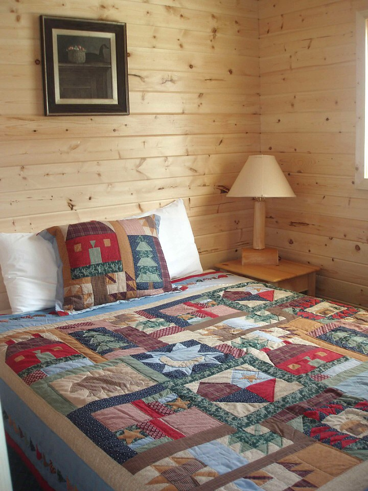 Full size bed bedroom