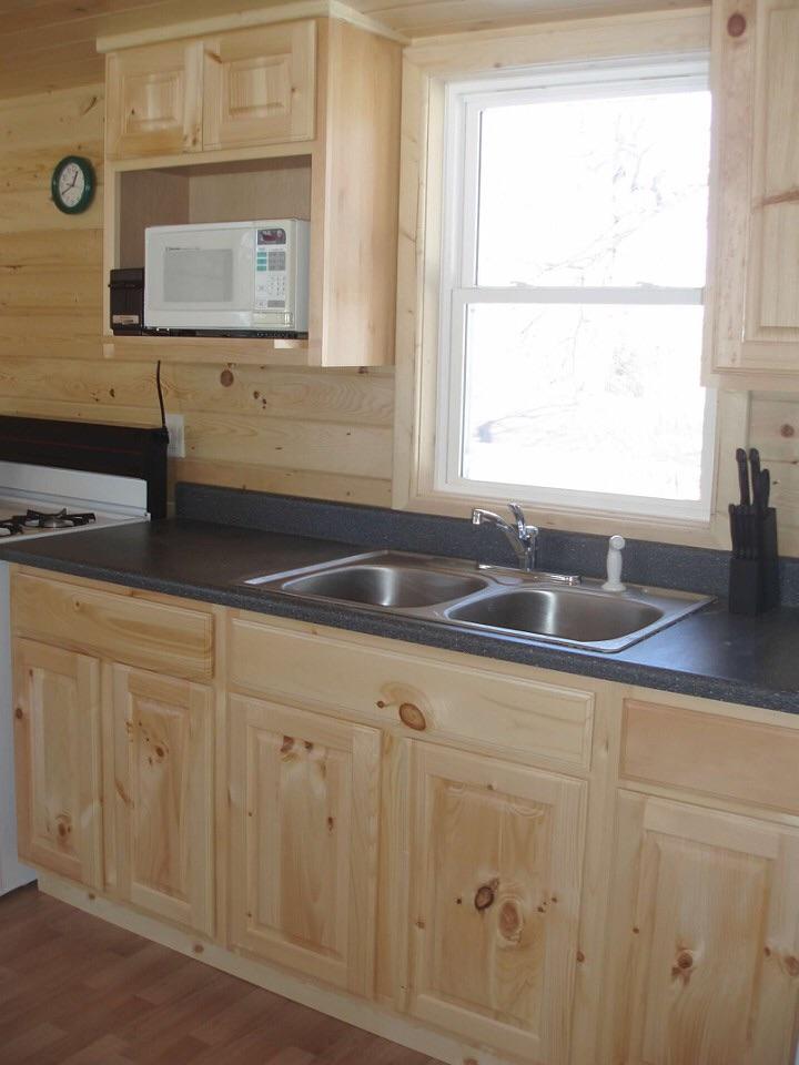 Light pine kitchen