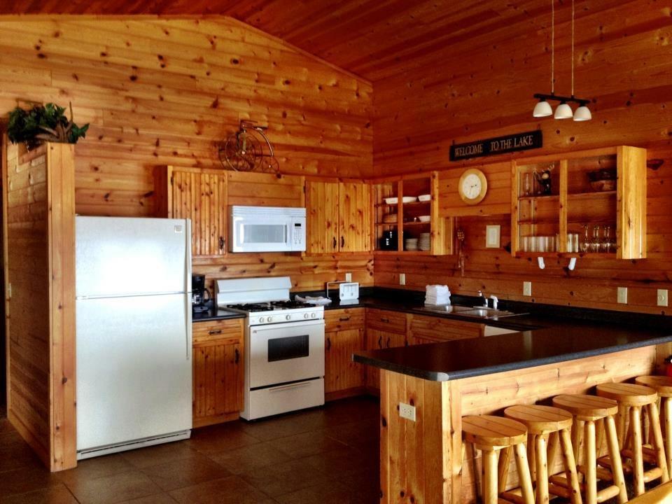 Larger cabin kitchen