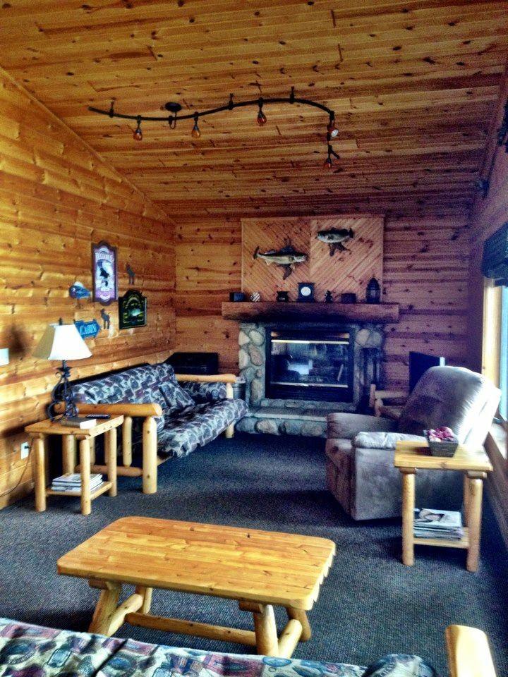 Larger cabin living room