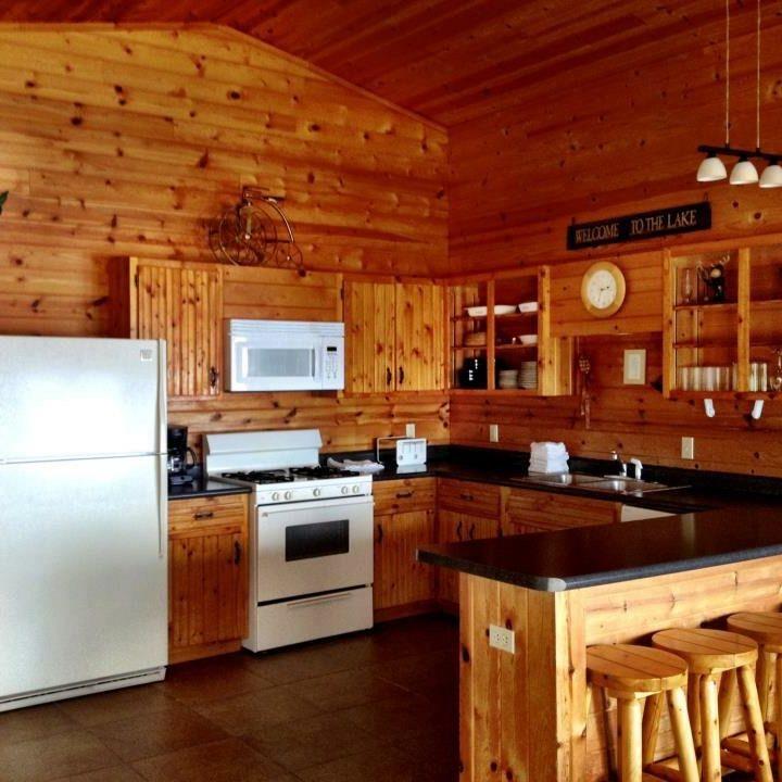 Interior cabin kitchen